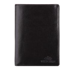 Мужской кожаный средний кошелек, черный, 21-1-020-10, Фотография 1