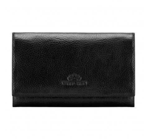 Женский классический кожаный кошелек, черный, 21-1-036-L3, Фотография 1