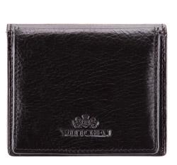 Монетница кожаная классическая, черный, 21-1-123-10, Фотография 1