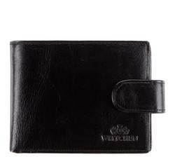 Классический кожаный мужской кошелек, черный, 21-1-127-1, Фотография 1