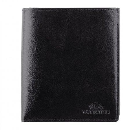 Большой мужской кожаный кошелек, черный, 21-1-139-10, Фотография 1