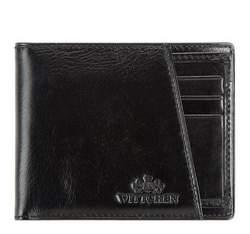 Кожаный кошелек со съемным вкладышем, черный, 21-1-267-1, Фотография 1
