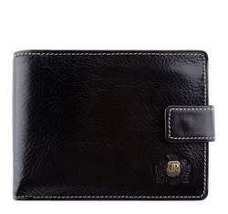Кожаный кошелек среднего размера, черный, 22-1-038-1, Фотография 1