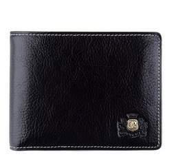 Мужской классический кожаный кошелек, черный, 22-1-039-1, Фотография 1