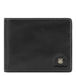 Кожаный мужской кошелек, черный, 22-1-173-1, Фотография 1