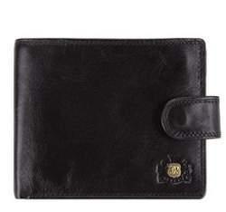 Универсальный кожаный мужской кошелек, черный, 39-1-120-1, Фотография 1
