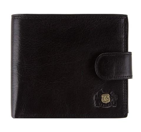 Кожаный кошелек среднего размера, черный, 39-1-125-1, Фотография 1