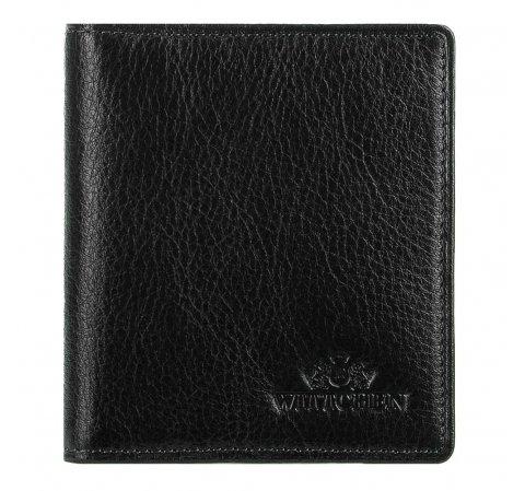 Кожаная кредитница, черный, 02-2-291-1L, Фотография 1