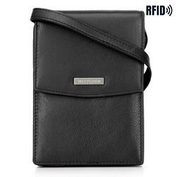 Кожаная мини-сумка через плечо 2-в-1, черный, 26-2-100-1, Фотография 1