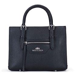 Кожаная мини сумка-сундук, черный, 93-4E-622-1, Фотография 1