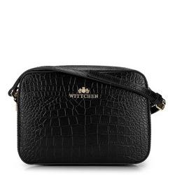 ная сумка-коробочка через плечо, черно-коричневый, 29-4E-005-1C, Фотография 1