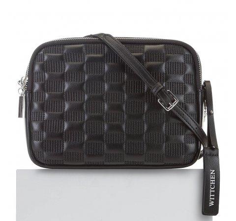 Женская кожаная сумка через плечо, черный, 91-4E-621-1, Фотография 1