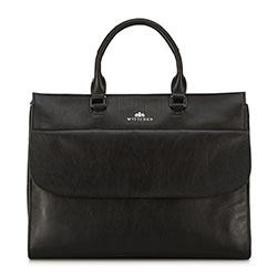 Кожаная сумка для ноутбука классического кроя, черный, 91-4E-311-1, Фотография 1