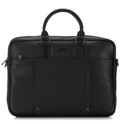 Кожаная сумка для ноутбука с заклепками, черный, 91-3U-305-1, Фотография 1