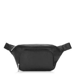 Кожаная сумка на пояс unisex, черный, 92-4U-902-1, Фотография 1