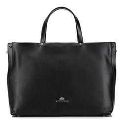 Кожаная сумка с карманом для ноутбука, черный, 92-4E-310-1, Фотография 1