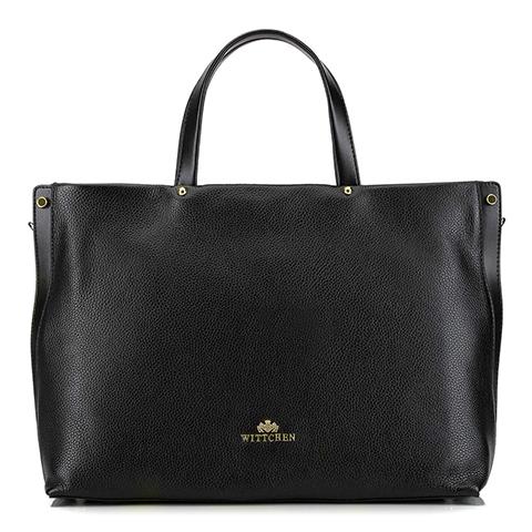 Кожаная сумка с карманом для ноутбука, черный, 92-4E-310-5, Фотография 1