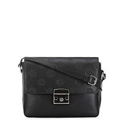 Женская кожаная сумка через плечо, черный, 91-4E-609-1, Фотография 1