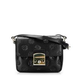 Кожаная сумка с клапаном с монограммой, черный, 92-4E-693-1, Фотография 1