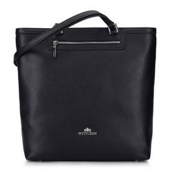 Кожаная сумка-шоппер, черный, 92-4E-600-1, Фотография 1