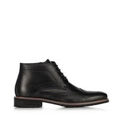 Кожаные ботинки мужские, черный, 91-M-911-1-39, Фотография 1