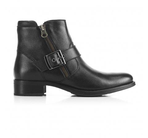 Кожаные ботинки с пряжкой, черный, 91-D-302-1-41, Фотография 1