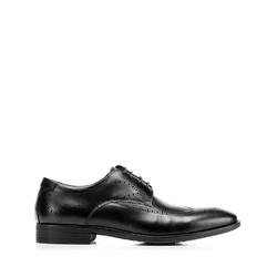 Кожаные мужские броги, черный, 92-M-906-1-45, Фотография 1