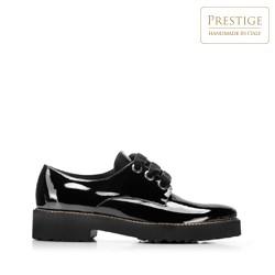 Кожаные женские туфли на платформе, черный, 92-D-134-1-41, Фотография 1