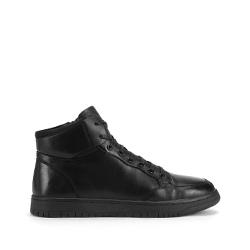 Кроссовки мужские кожаные до щиколотки, черный, 93-M-909-1-39, Фотография 1