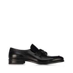 Мужские кожаные мокасины, черный, 91-M-909-1-43, Фотография 1