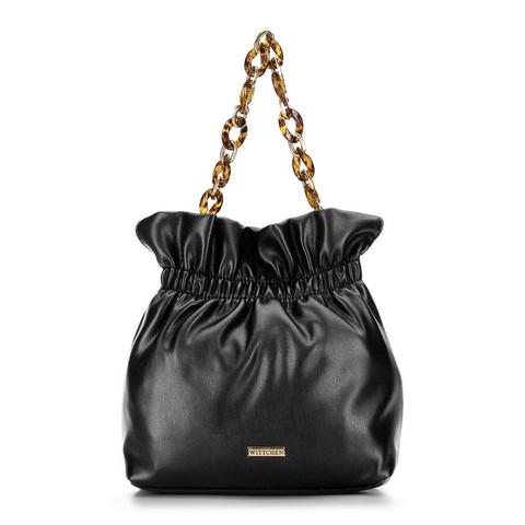Маленькая сумка на черепаховой цепочке, черный, 92-4Y-609-5, Фотография 1