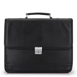 Матовый портфель с замком на ключ, черный, 29-3-703-1, Фотография 1