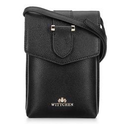 Кожаная мини-сумка через плечо, черный, 92-2E-652-1, Фотография 1
