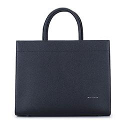 Минималистская кожаная сумка, черный, 93-4E-616-1, Фотография 1