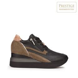 Женские замшевые кроссовки с застежкой-молнией, черный, 93-D-655-X1-40, Фотография 1
