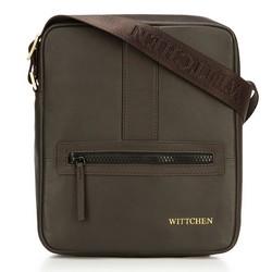 Мужская маленькая  кожаная сумка-мессенджер, коричневый, 92-4U-901-5, Фотография 1