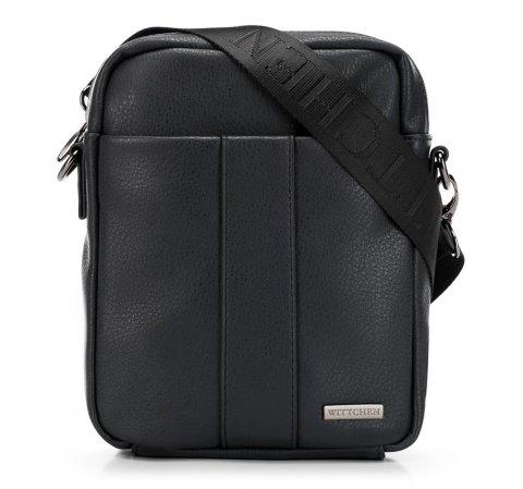 Мужская маленькая сумка через плечо, черный, 91-4P-600-7, Фотография 1