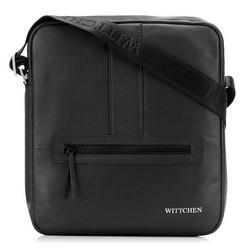 Мужская средняя сумка-мессенджер, черный, 92-4U-900-1, Фотография 1