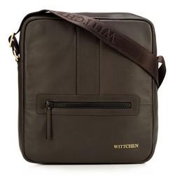 Мужская средняя сумка-мессенджер, коричневый, 92-4U-900-5, Фотография 1