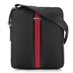 Мужская сумка через плечо, черный, 91-4U-203-1, Фотография 1