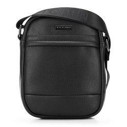 Мужская сумка через плечо из экокожи, черный, 91-4P-601-1, Фотография 1