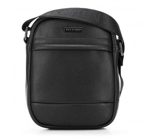 Мужская сумка через плечо из экокожи, черный, 91-4P-601-7, Фотография 1