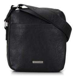 Мужская сумка через плечо с небольшим карманом, черный, 29-4P-004-1, Фотография 1
