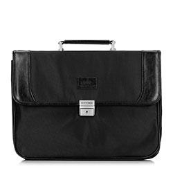 Мужская сумка для ноутбука со вставками из экокожи, черный, 29-3-633-1, Фотография 1