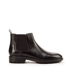 Мужские классические кожаные ботинки, черный, 93-M-914-1-45, Фотография 1