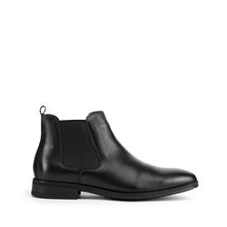 Мужские классические кожаные ботинки, черный, 93-M-915-1-43, Фотография 1
