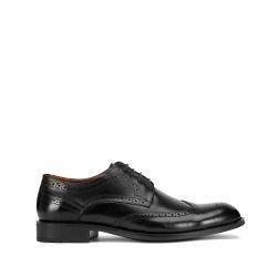 Мужские классические кожаные броги, черный, 93-M-910-1-43, Фотография 1