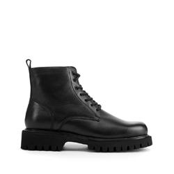 Мужские кожаные ботинки на толстой подошве, черный, 93-M-906-1-40, Фотография 1