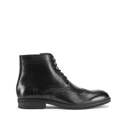Мужские кожаные ботинки с перфорацией, черный, 93-M-916-1-39, Фотография 1