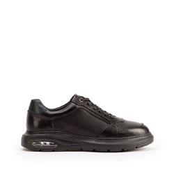 Мужские кожаные кроссовки с воздушной подушкой, черный, 93-M-902-1-44, Фотография 1